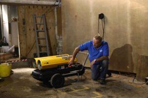 Быстрая сушка стен после ремонта